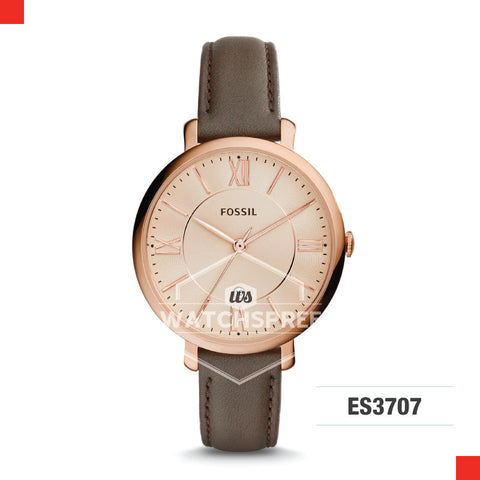 Fossil Ladies Jacqueline Gray Leather Watch ES3707