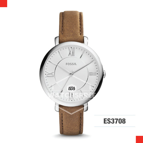 Fossil Ladies Jacqueline Brown Leather Watch ES3708