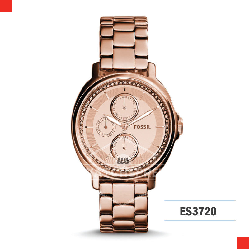Fossil Ladies Chelsey Multifunction Rose Stainless Steel Watch ES3720