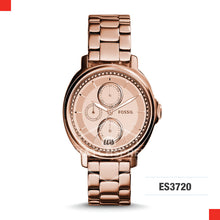Load image into Gallery viewer, Fossil Ladies Chelsey Multifunction Rose Stainless Steel Watch ES3720