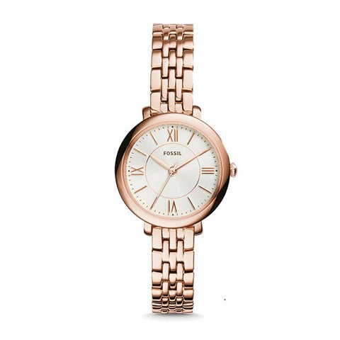 Fossil Ladies' Jacqueline Mini Rose-Tone Stainless Steel Watch ES3799