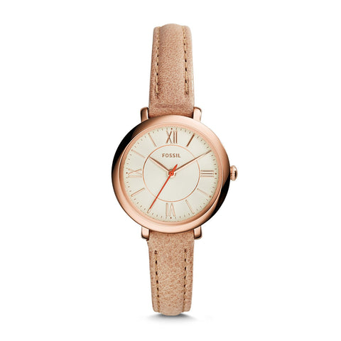 Fossil Ladies' Jacqueline Mini Sand Leather Watch ES3802