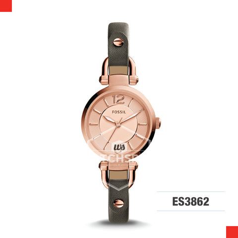 Fossil Ladies Georgia Grey Leather Watch ES3862