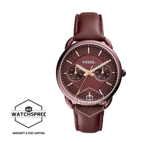 Fossil Tailor Multifunction Wine Leather Ladies' Watch ES4121