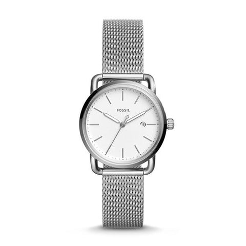 Fossil Ladies' The Commuter Three-Hand Date Stainless Steel Watch ES4331