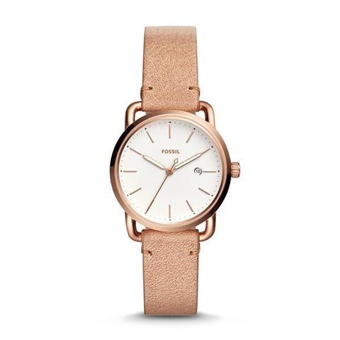 Fossil Ladies' The Commuter Three-Hand Date Sand Leather Watch ES4335