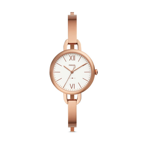 a8be3801cfa3 Fossil Ladies  Anette Three-Hand Rose Gold Tone Stainless Steel Watch ES4391