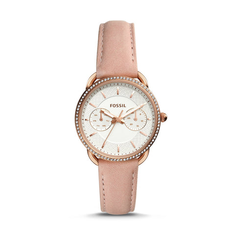 Fossil Ladies' Tailor Multifunction Blush Leather Watch ES4393