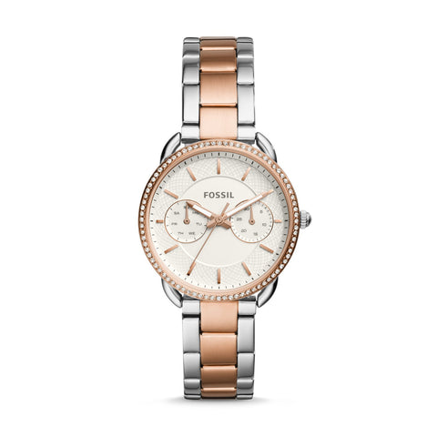 Fossil Ladies' Tailor Multifunction Two Tone Stainless Steel Watch ES4396