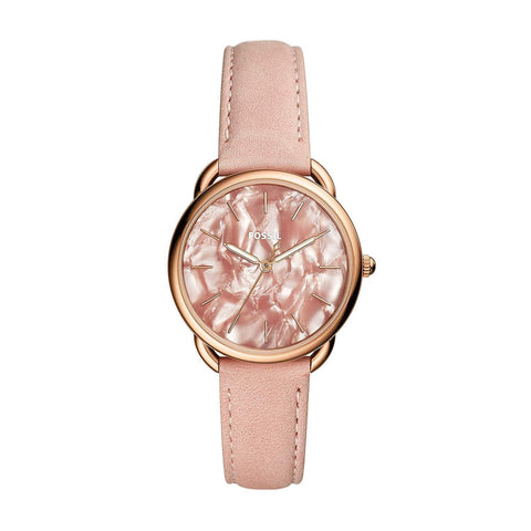 Fossil Ladies' Tailor Three-Hand Blush Leather Watch ES4419