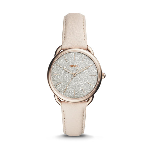 Fossil Ladies' Tailor Three-Hand Winter White Leather Watch ES4421