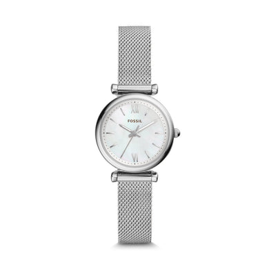 Fossil Ladies' Carlie Mini Three-Hand Stainless Steel Watch ES4432