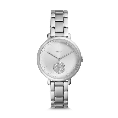 Fossil Ladies' Jacqueline Three-Hand Stainless Steel Bracelet Watch ES4437