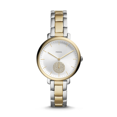 Fossil Ladies' Jacqueline Three-Hand Two-Tone Stainless Steel Watch ES4439