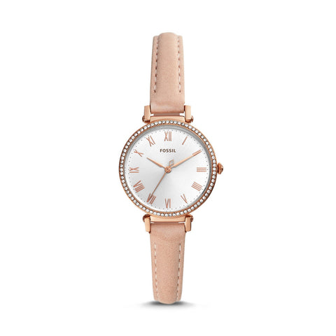 Fossil Ladies' Kinsey Three Hand Blush Leather Watch ES4445