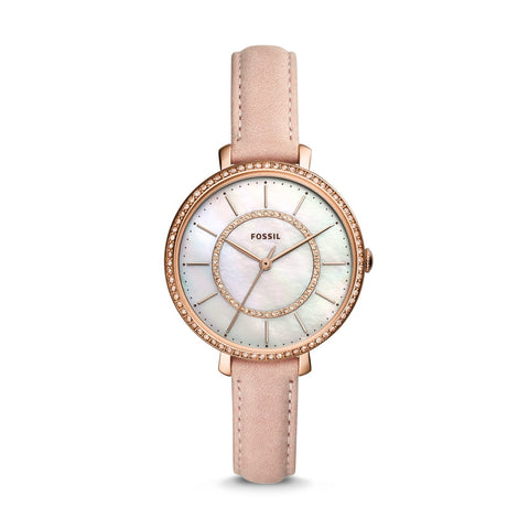 Fossil Ladies' Jocelyn Three Hand Blush Leather Watch ES4455