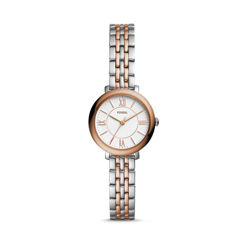 Fossil Ladies' Jacqueline Mini Three Hand Two Tone Stainless Steel Watch ES4612