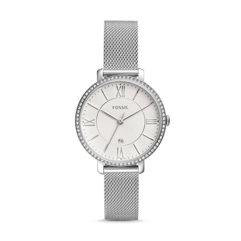 Fossil Ladies' Jacqueline Three-Hand Date Stainless Steel Watch ES4627
