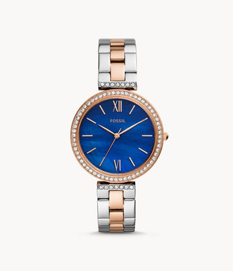 Fossil Ladies' Madeline Three-Hand Two-Tone Stainless Steel Watch ES4640