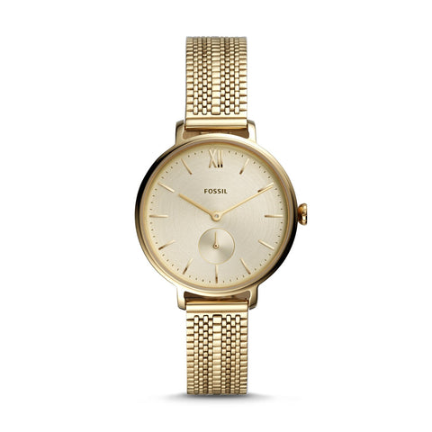 Fossil Ladies' Kayla Three-Hand Gold-Tone Stainless Steel Watch ES4667
