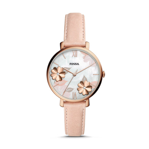 Fossil Ladies' Carlie Mini Three-Hand Rose Gold Tone Stainless Steel Watch ES4671