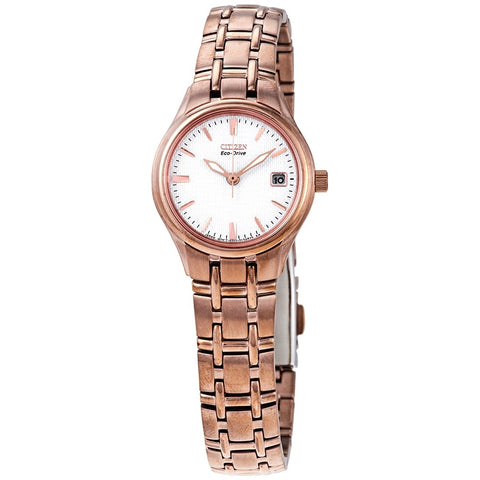 CItizen Corso White Dial 25 mm Ladies Rose Gold-tone Watch EW1263-52A
