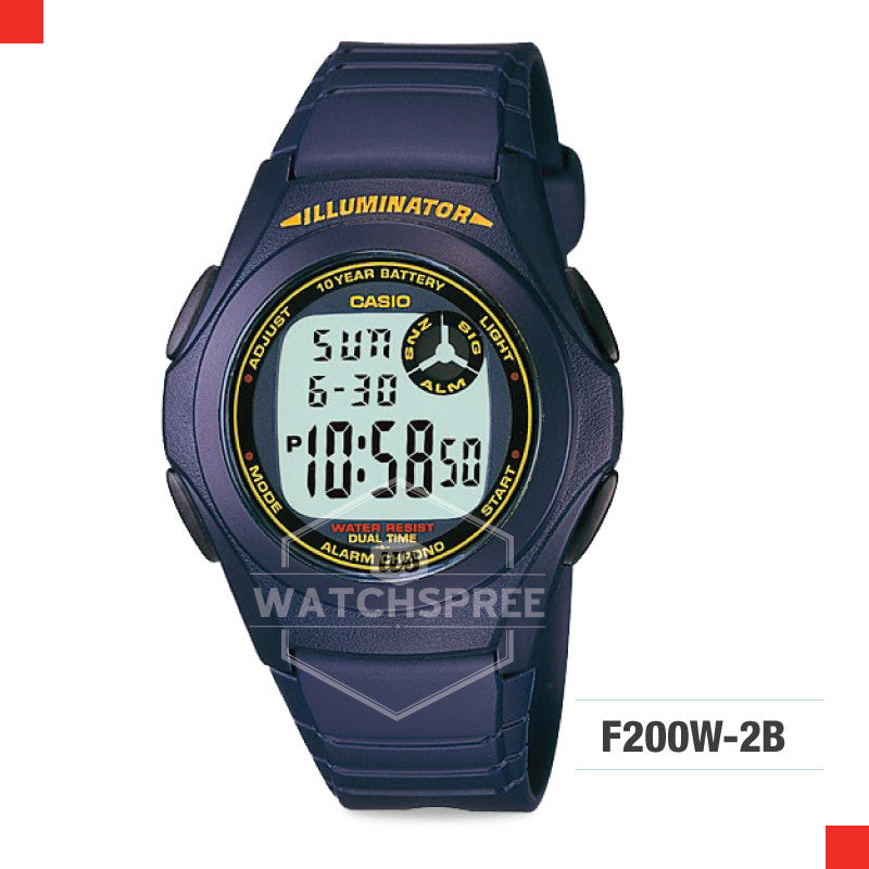 Casio Sports Watch F200W-2B