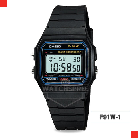 Casio Sports Watch F91W-1S