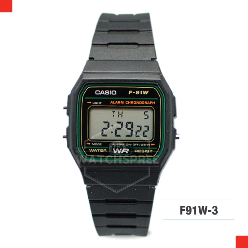 Casio Sports Watch F91W-3S