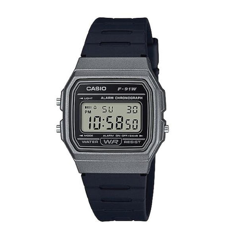 Casio Standard Digital Black Resin Band Watch F91WM-1B F-91WM-1B