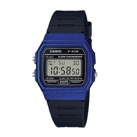 Casio Standard Digital Black Resin Band Watch F91WM-2A F-91WM-2A