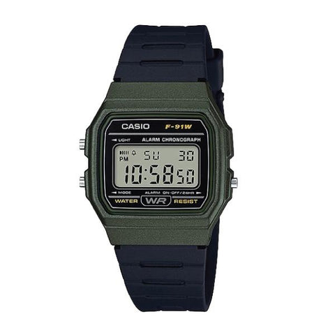 Casio Standard Digital Black Resin Band Watch F91WM-3A F-91WM-3A