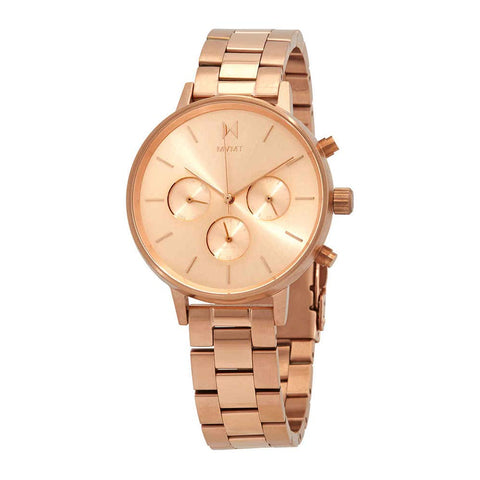 MVMT Nova Leo Quartz Rose Dial 38 mm Ladies Watch FC01-RG
