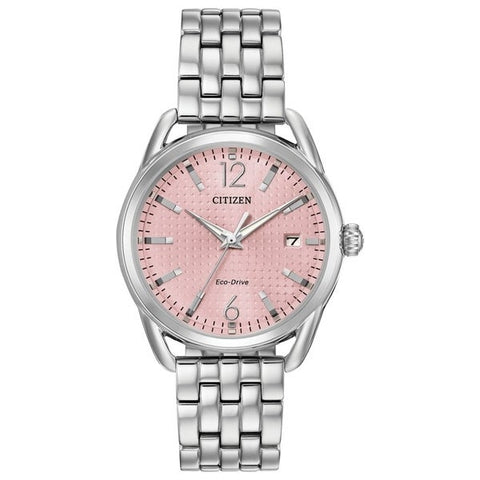 Citizen LTR Eco-Drive Light Pink Dial 36 mm Ladies Watch FE6080-71X