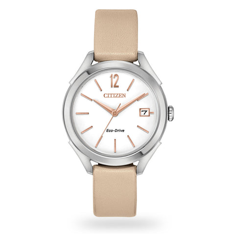 Citizen LTR - Long Term Relationship Eco-Drive White Dial 34 mm Ladies Watch FE6140-03A [Pre-order]