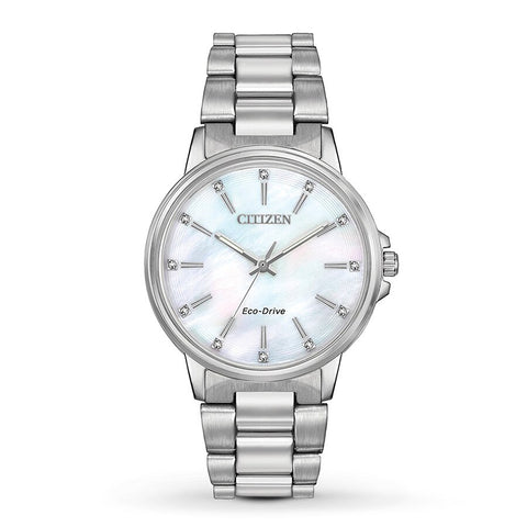 Citizen Chandler Eco-Drive Diamond White Mother of Pearl Dial 37 mm Ladies Watch FE7030-57D [Pre-order]
