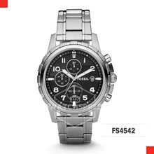 Load image into Gallery viewer, Fossil Men Dean Chronograph Stainless Steel Watch FS4542