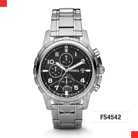 Fossil Men Dean Chronograph Stainless Steel Watch FS4542