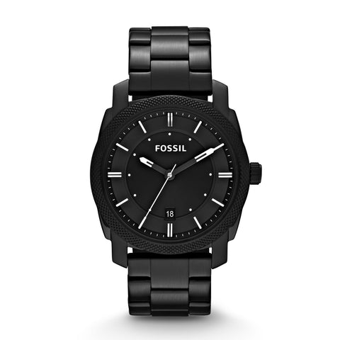 Fossil Men's Machine Black Stainless Steel WatchFS4775