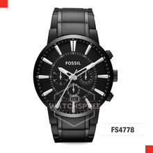 Load image into Gallery viewer, Fossil Men Black IP Steel Chronograph Watch FS4778