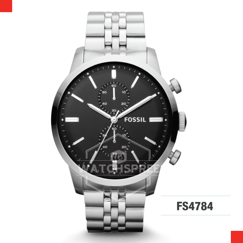 Fossil Men Townsman Chronograph Stainless Steel Watch FS4784