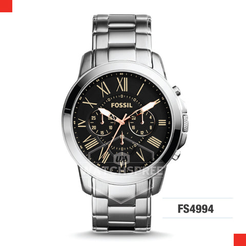 Fossil Men Grant Chronograph Stainless Steel Watch FS4994