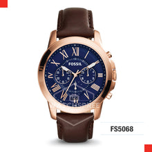 Load image into Gallery viewer, Fossil Men Grant Chronograph Brown Leather Watch FS5068