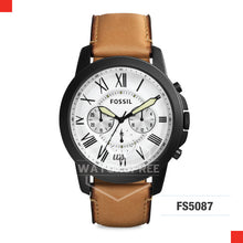 Load image into Gallery viewer, Fossil Men Grant Chronograph Vacchetta Leather Watch FS5087