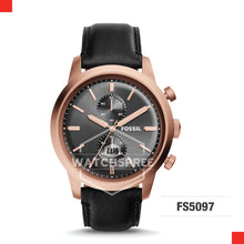 Load image into Gallery viewer, Fossil Men Townsman Chronograph Black Leather Watch FS5097