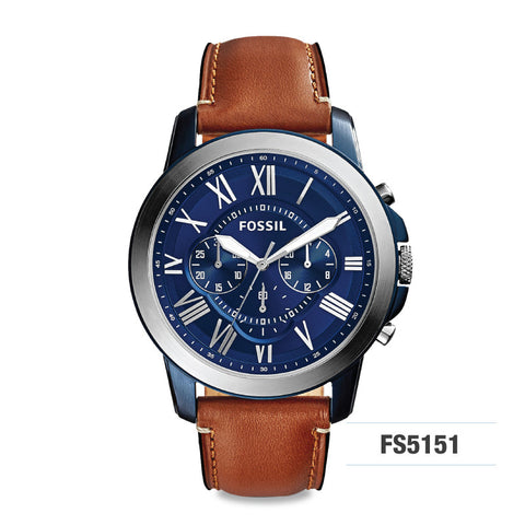 Fossil Grant Chronograph Light Brown Men's Leather Watch FS5151