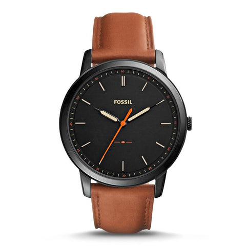 Fossil Men's The Minimalist Slim Three-Hand Brown Leather Watch FS5305