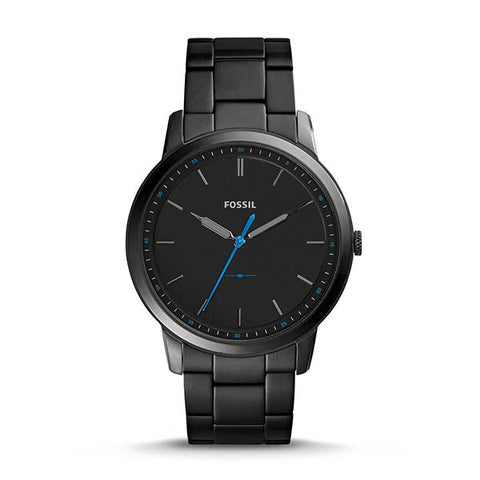 Fossil Men's The Minimalist Slim Three-Hand Black Stainless Steel Watch FS5308