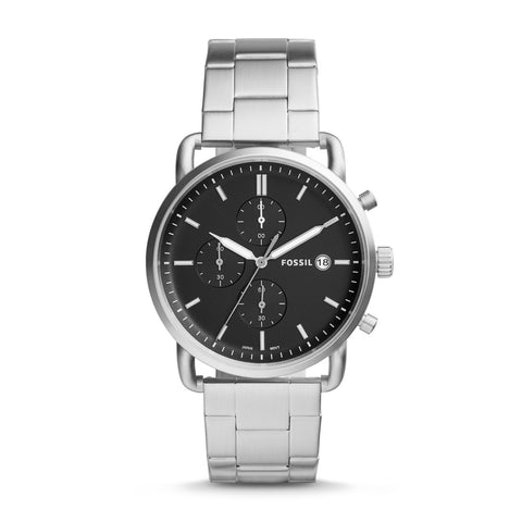 Fossil Men's The Commuter Chronograph Stainless Steel Watch FS5399
