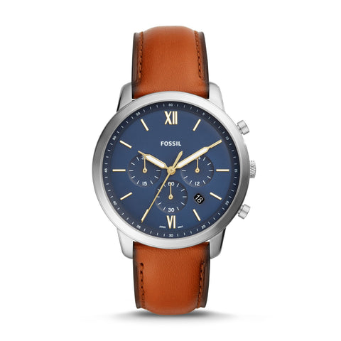 Fossil Men's Neutra Chronograph Brown Leather Watch FS5453